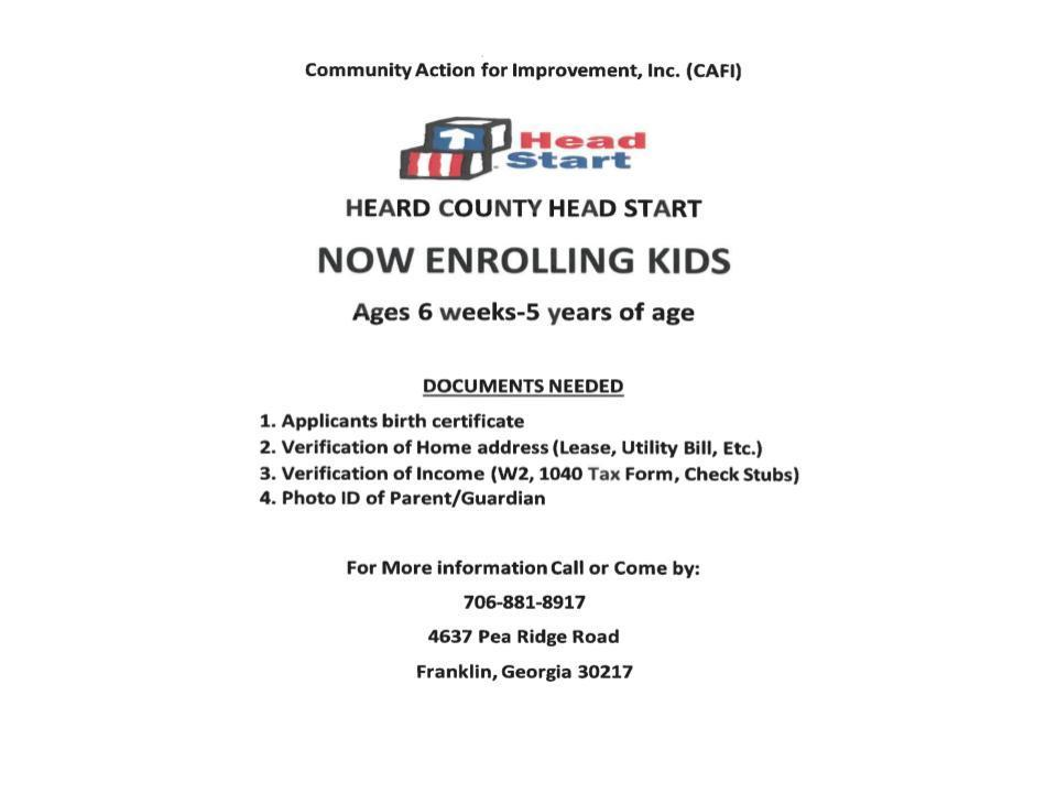 Head Start Enrollment