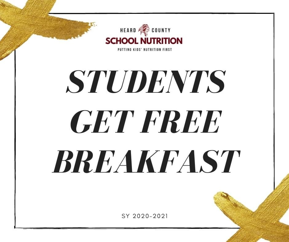 FREE BREAKFAST FOR HCSS STUDENTS