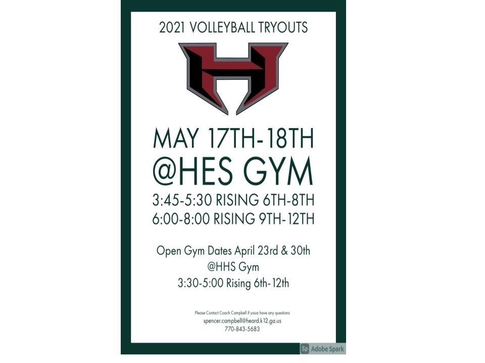 Volleyball Tryouts for 5th Grade Girls