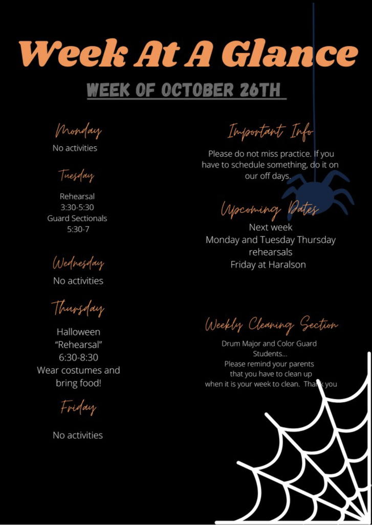Week at a Glance 10/26