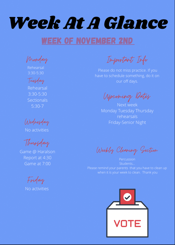 Week at a Glance 11/2