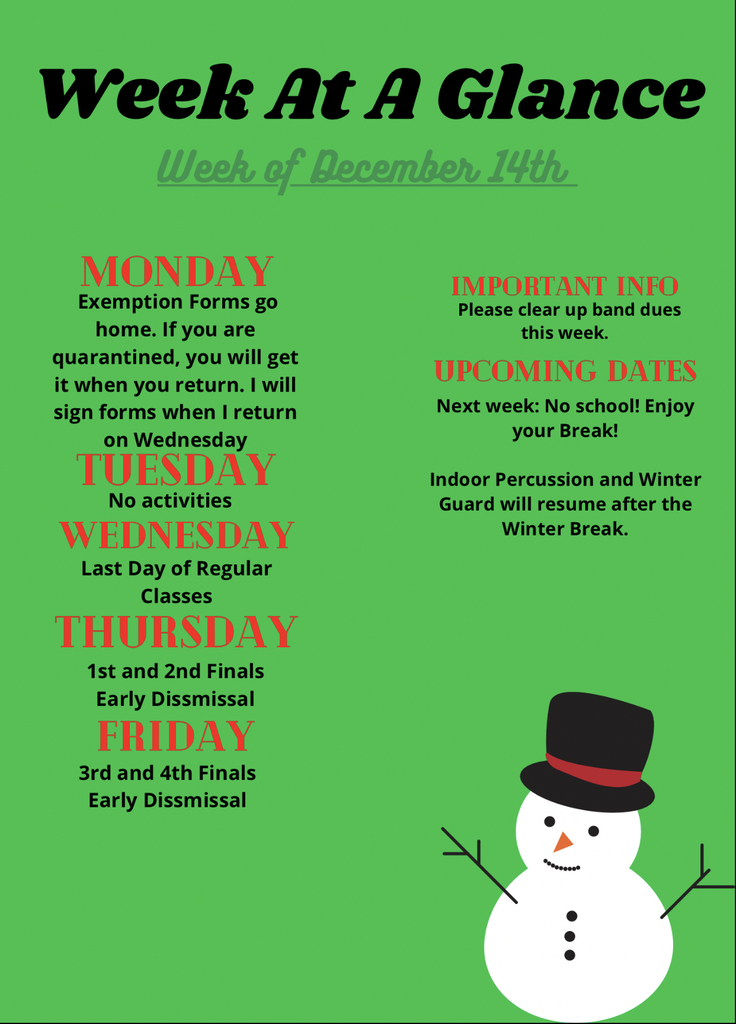 Week at a Glance 12/14