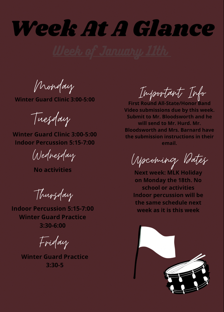 Week at a Glance 1/11
