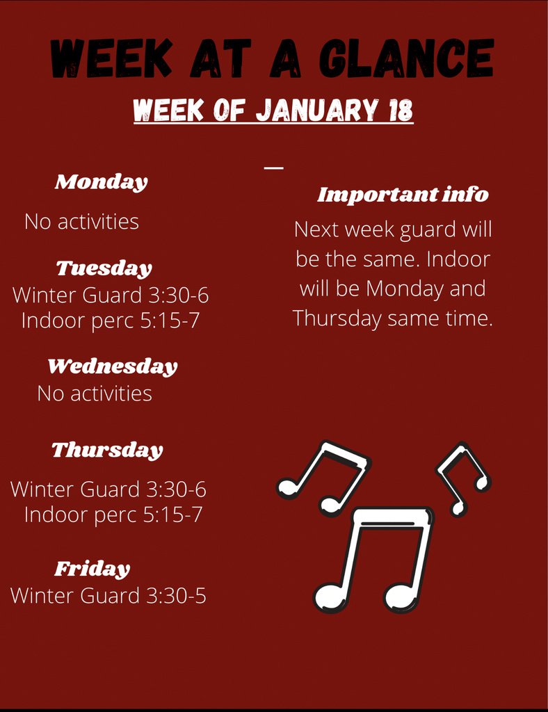 Week at a Glance 1/18