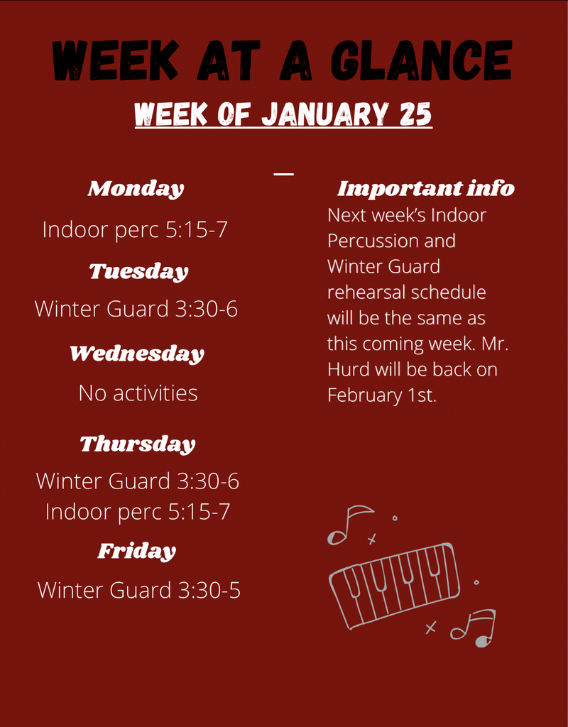 Week at a Glance 1/25