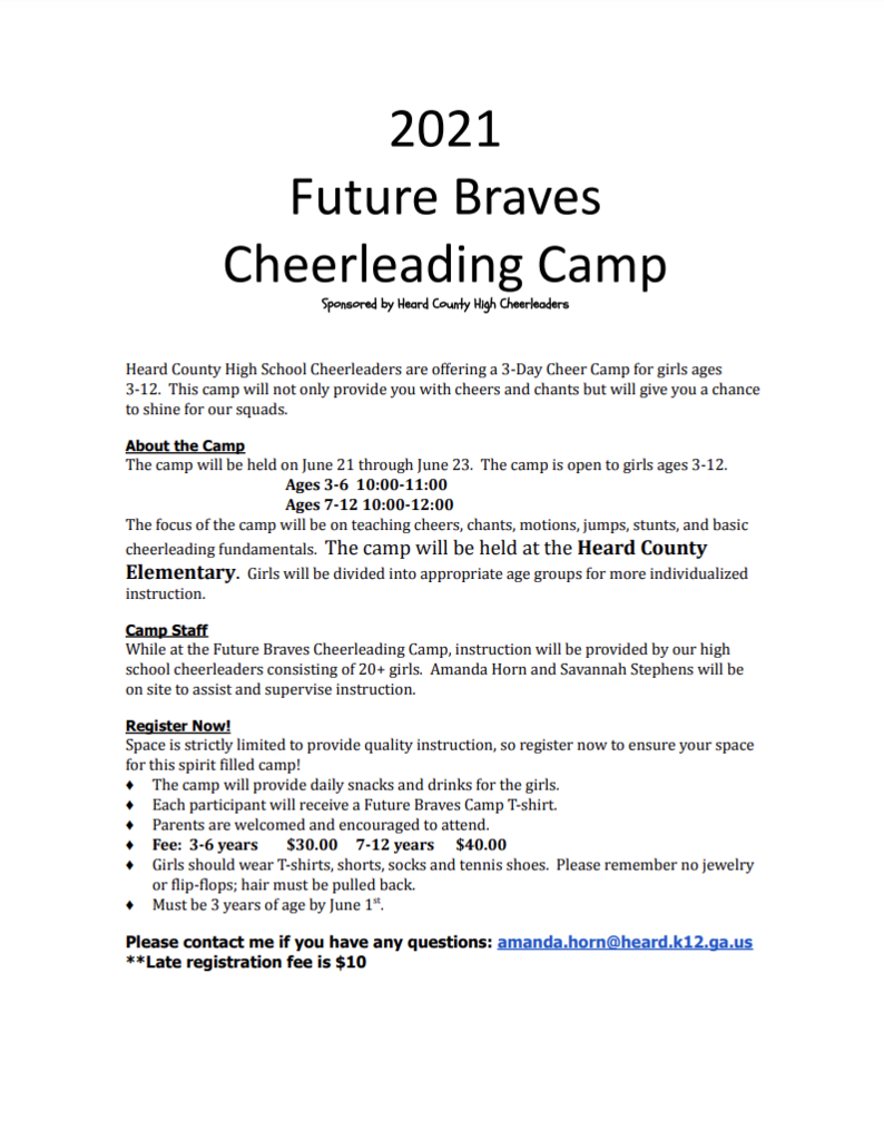 Cheerleading Camp