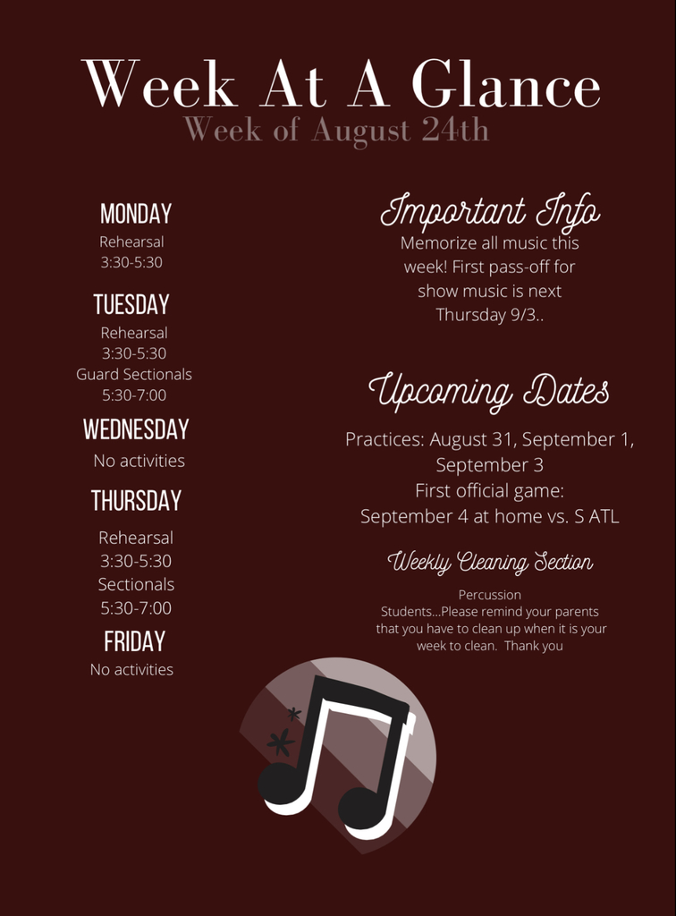 Week at a Glance: August 24