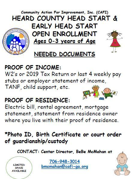 Head Start Registration
