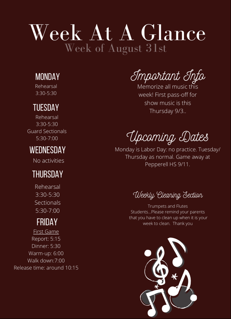 Week at a Glance 8/32