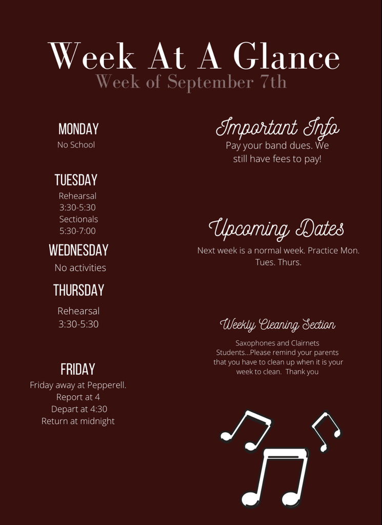 Week at a Glance Sept 7
